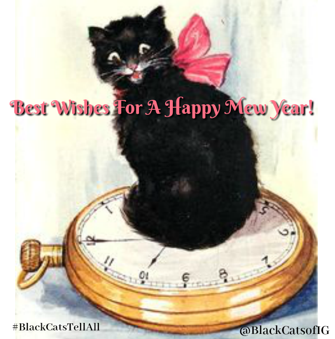 Vintage Feline New Year and What Auld Lang Syne Really