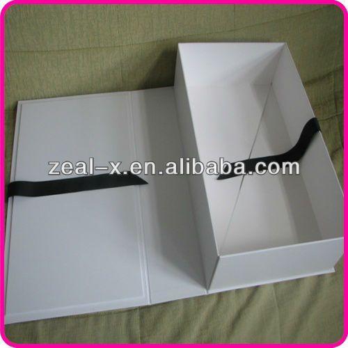 venta caliente de lujo caja de papel plegable para la boda vestido ...