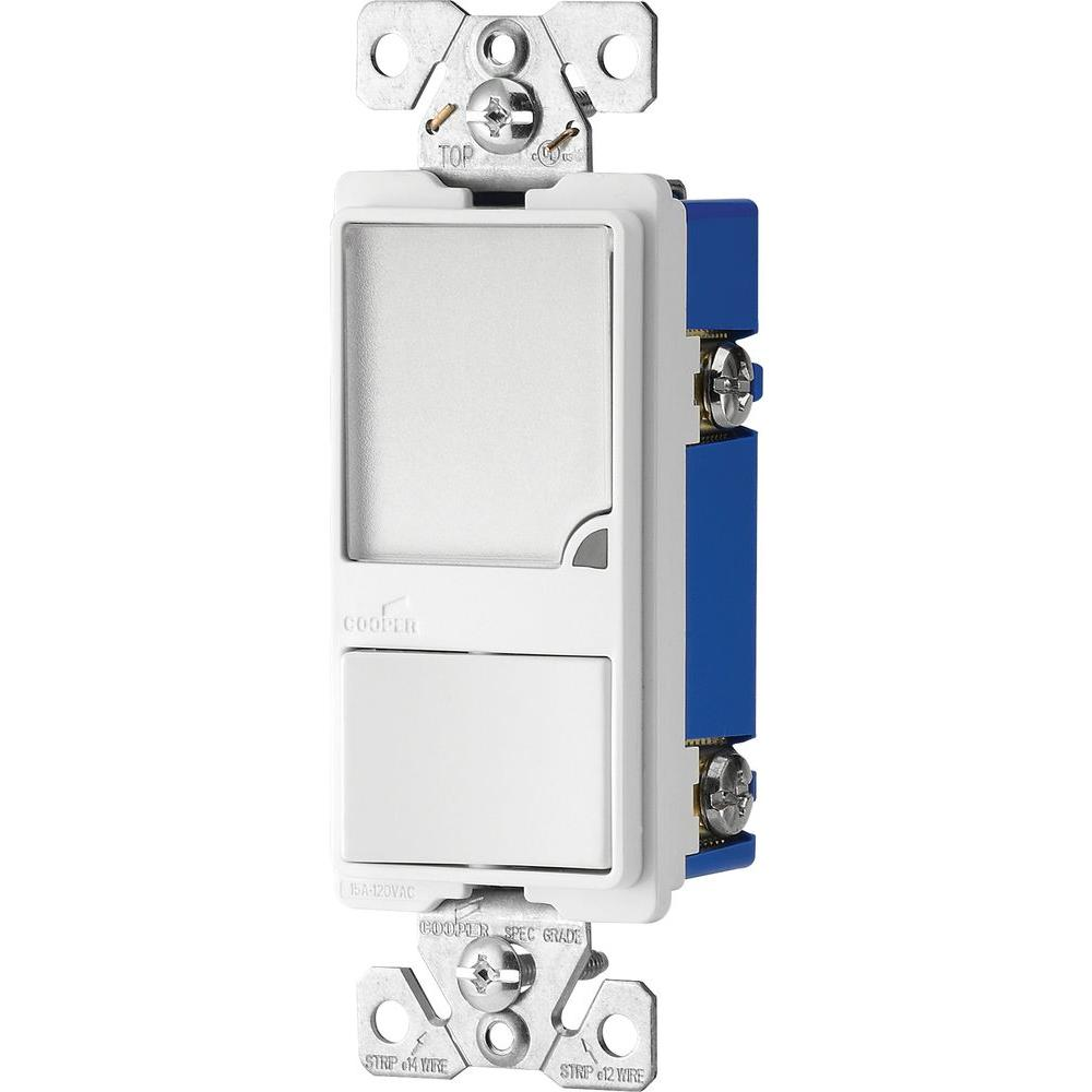 15 amp 120 volt combination switch with 1 watt led nightlight white [ 1000 x 1000 Pixel ]