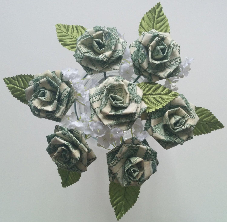 Blume Geldscheine Falten Für Einen Hochzeitstrauß Deko Folding