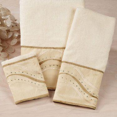Diamond Stripe Bath Towel Set