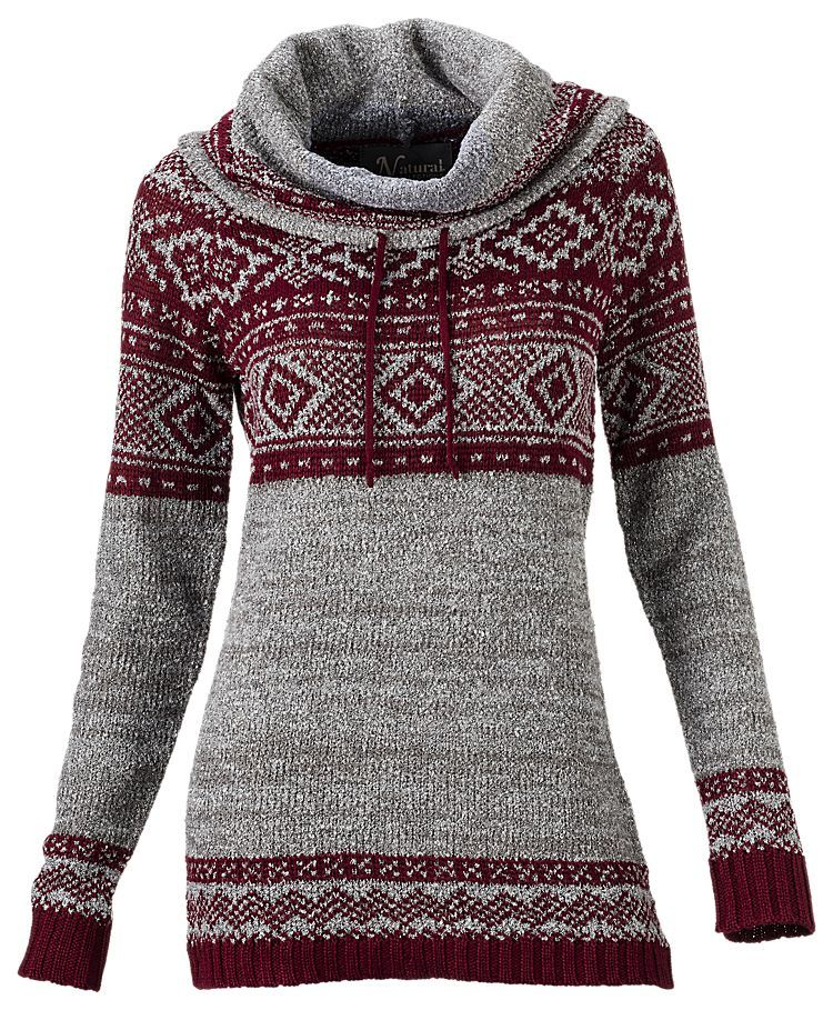 Natural Reflections Fair Isle Cowl Neck Sweater for Ladies | Bass ...