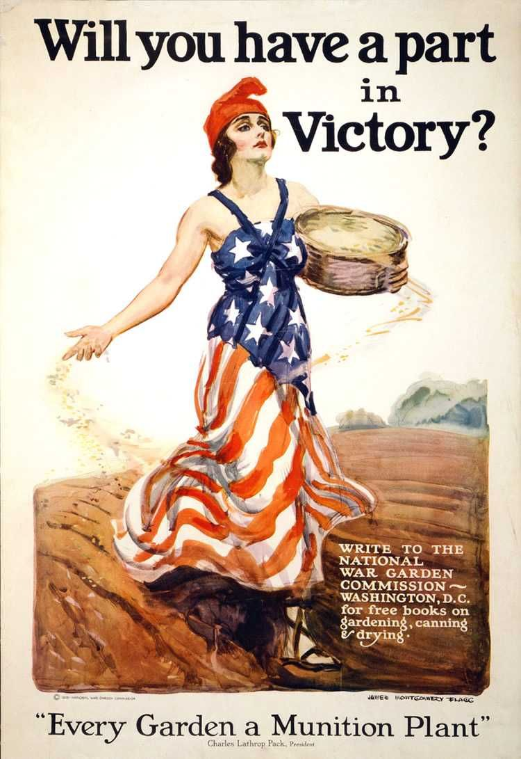 WWI Victory Garden Poster C.1917 Victory Gardens Were Home Vegetable Gardens  Planted During The