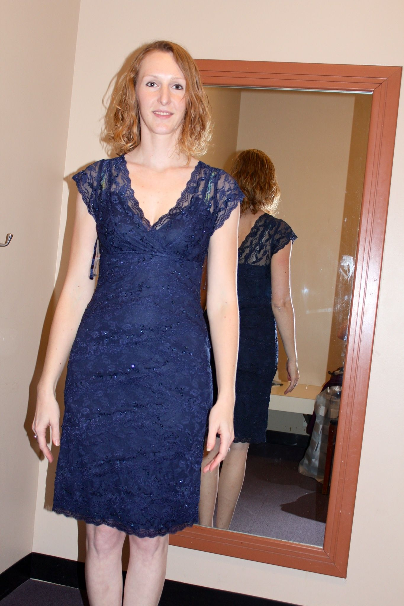 Jcpenny.  This is navy, but this comes in cobalt online.  All lace