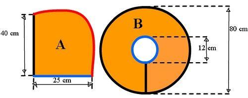 modelo de capucha simple – UnaNada - Usada para disfraz de Nemo