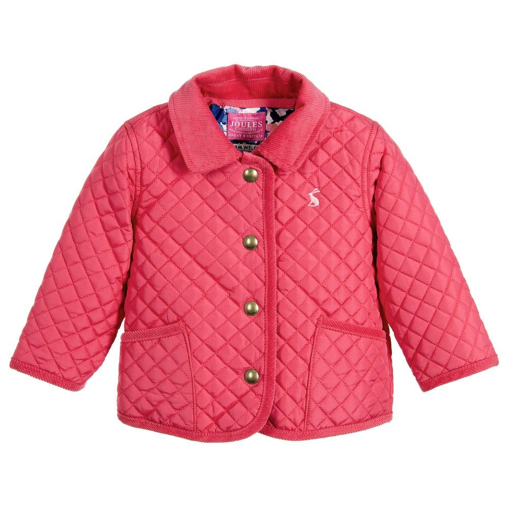Baby girl pink quilted coat