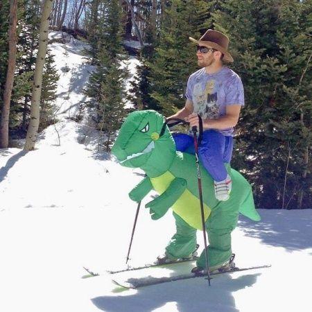 Deguisement Pour Le Ski T Rex Ski Images Droles
