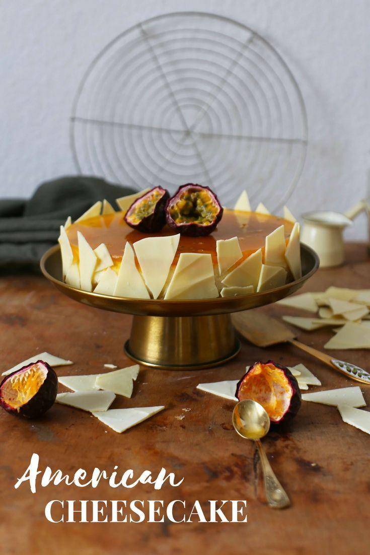 American Cheesecake mit Passionsfruchtspiegel | nach einem Rezept von Christian Hümbs – La Crema