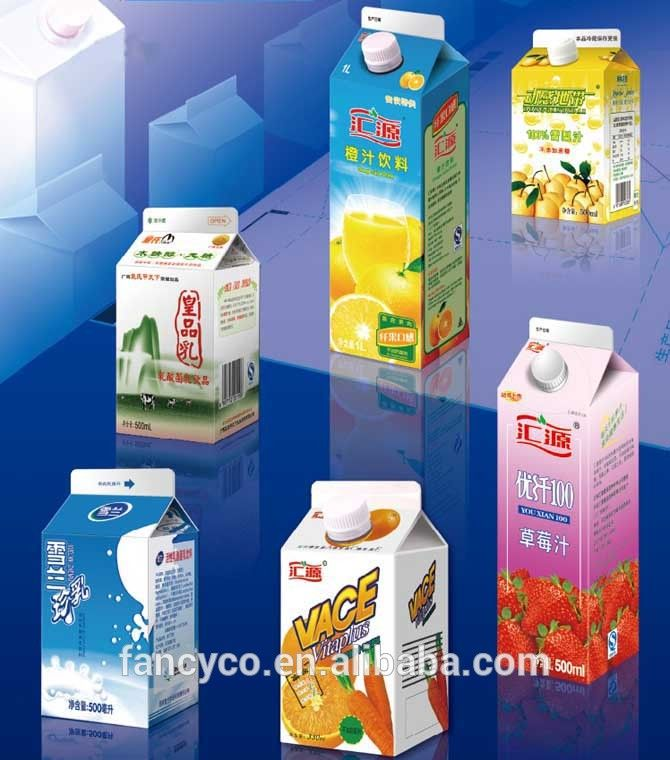 Gable form Aseptic beverage box packing materials
