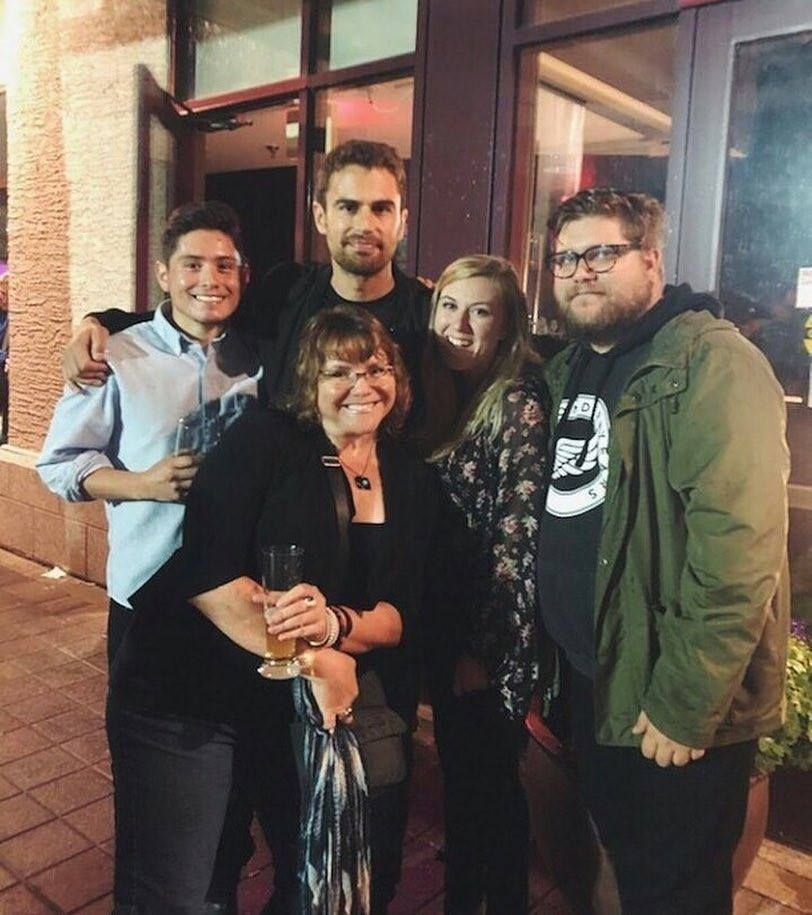 NEW┇New pic of Theo at the How It Ends Wrap Party