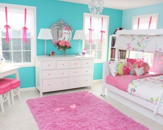 Turquoise Girls Bedroom Design, Pictures, Remodel, Decor And Ideas   Page 9  Think Pink N Turquoise Will Be The Colors For Their Rooms