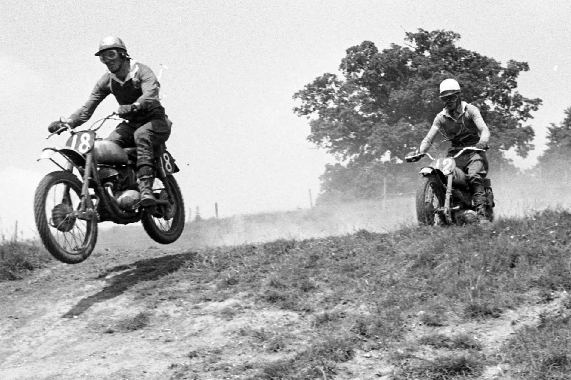 Brian Stonebridge And Dave Bickers Beenham Park 1958