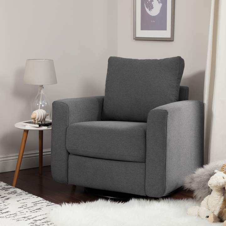 Dark Grey Babyletto Bento Glider Chair Boy Nursery