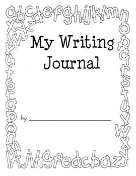 This is a Writing Journal Cover that can be used with the