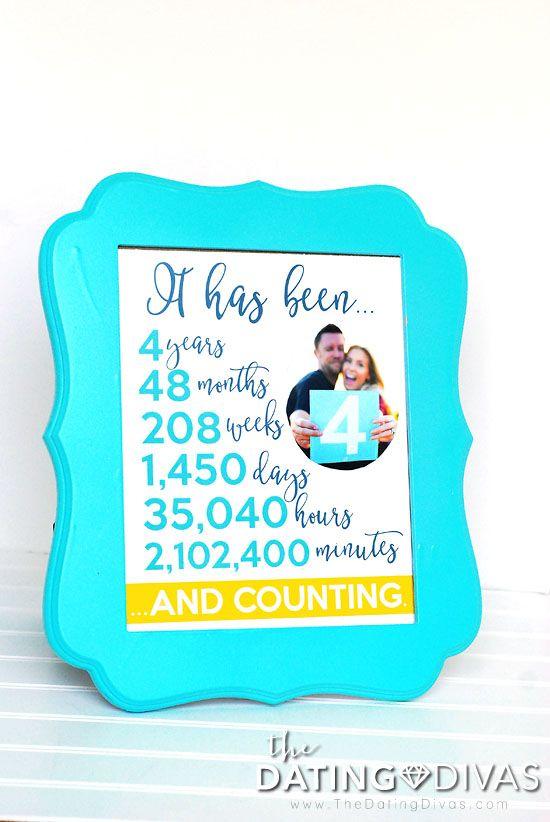 383065f8dd20 Fourth Anniversary Gift Printable Kit - The Dating Divas