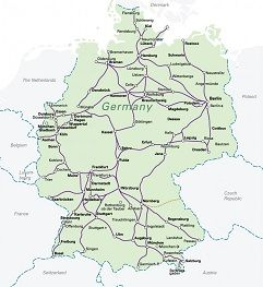 germany with capital berlin on map of europe