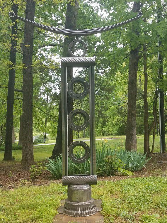 Japanese Metal Sculptureoutdoor Sculptureindoor Etsy Metal