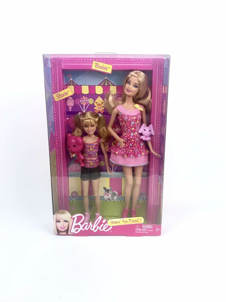 Barbie Sisters Barbie /& Stacie Dolls 2 Pack fun at the park *NEW*