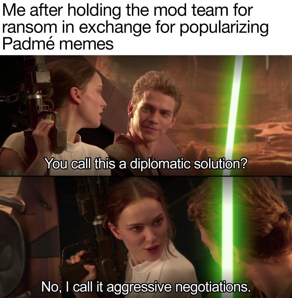 Make Padme Memes Or U Thedstudge Gets It Prequelmemes Star Wars Padme Star Wars Jokes Star Wars Memes