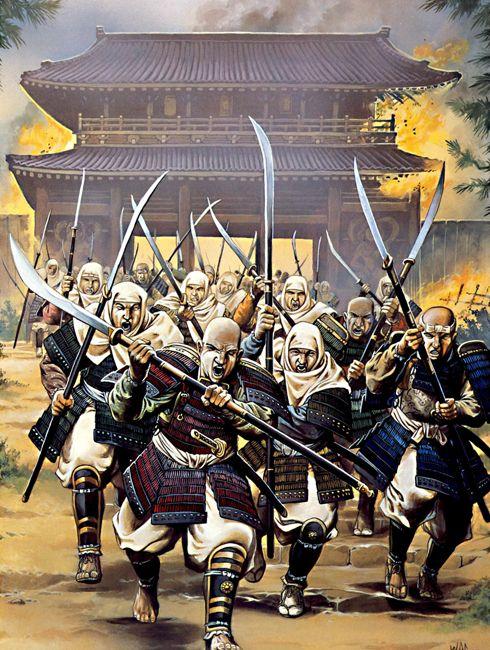 """""""The burning of Nara, 1180"""", Wayne Reynolds"""