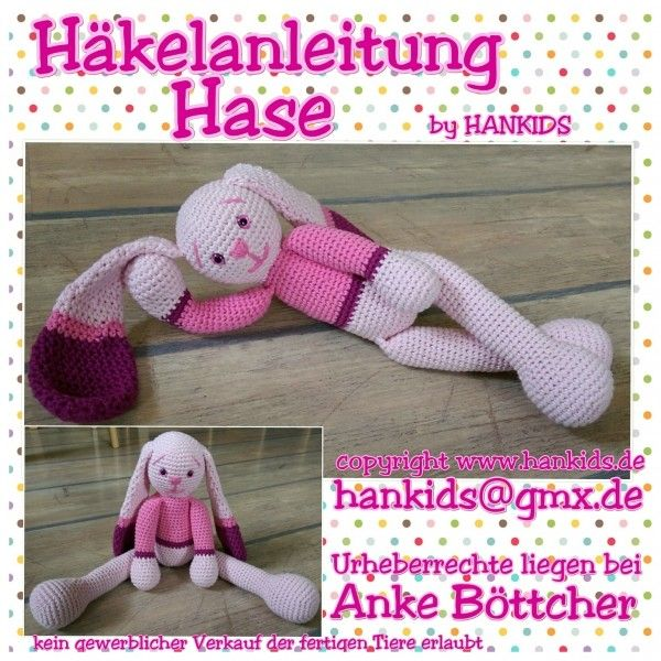 Häkelanleitung Hase | Crocheting and knitting and seeing ...