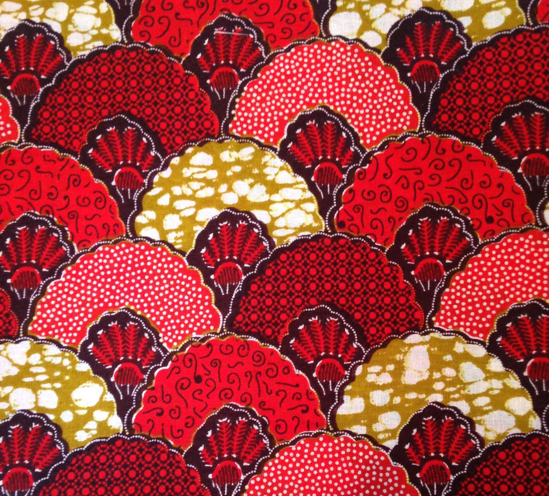 Tissu africain jeanne style art d co en vente au m tre - Tissu ameublement art deco ...