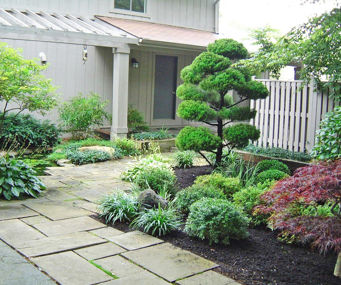 Front Entrance Garden Design Ideas: Front Entrance Landscape Design By Lee's Oriental