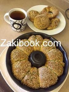 طريقة عمل خبز السميت التركي بالتفصيل زاكي Food Bread Breakfast