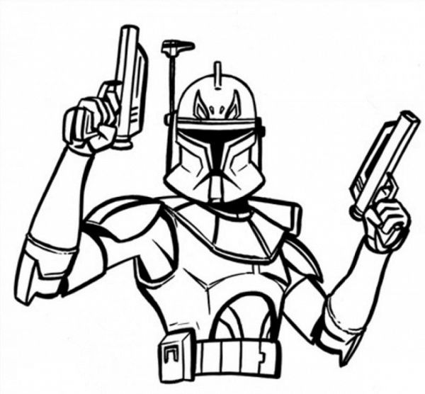 star wars coloring pages captain rex Space