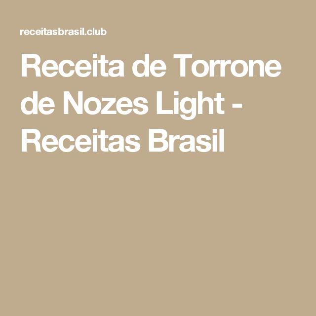 Receita de Torrone de Nozes Light - Receitas Brasil