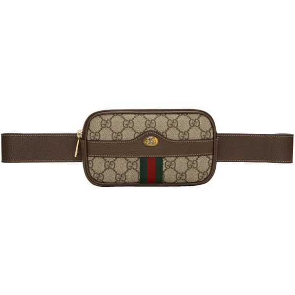 5927b7c9c0e Gucci Brown Mini GG Supreme Default Belt Bag ( 700) ❤ liked on Polyvore  featuring bags