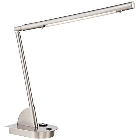 Regis Led Desk Lamp With Power Outlet And Usb Port 8n540