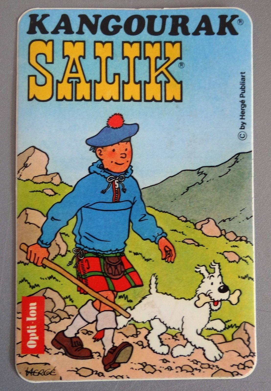 Aufkleber AGU KANGOURAK SALIK Tim & Struppi TinTin Sticker Autocollant 80er II