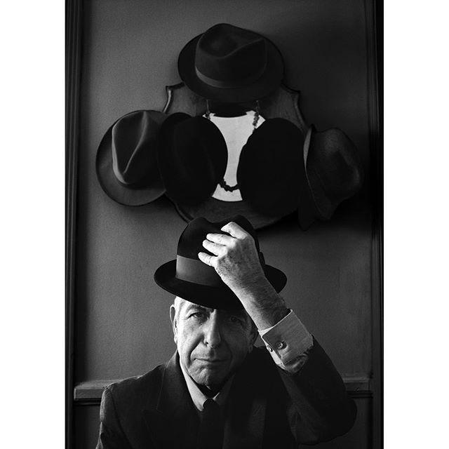 Portrait of musician Leonard Cohen originally photographed for Rolling Stone Magazine - #leonardcohen #music #musician #folkmusic #rockmusic #spokenword #poet #poetry #artist #imyourman #reduxpictures #reduxreps @reduxpictures @reduxreps @rollingstone @officialleonardcohen #portrait #bwportrait #blackandwhiteportrait