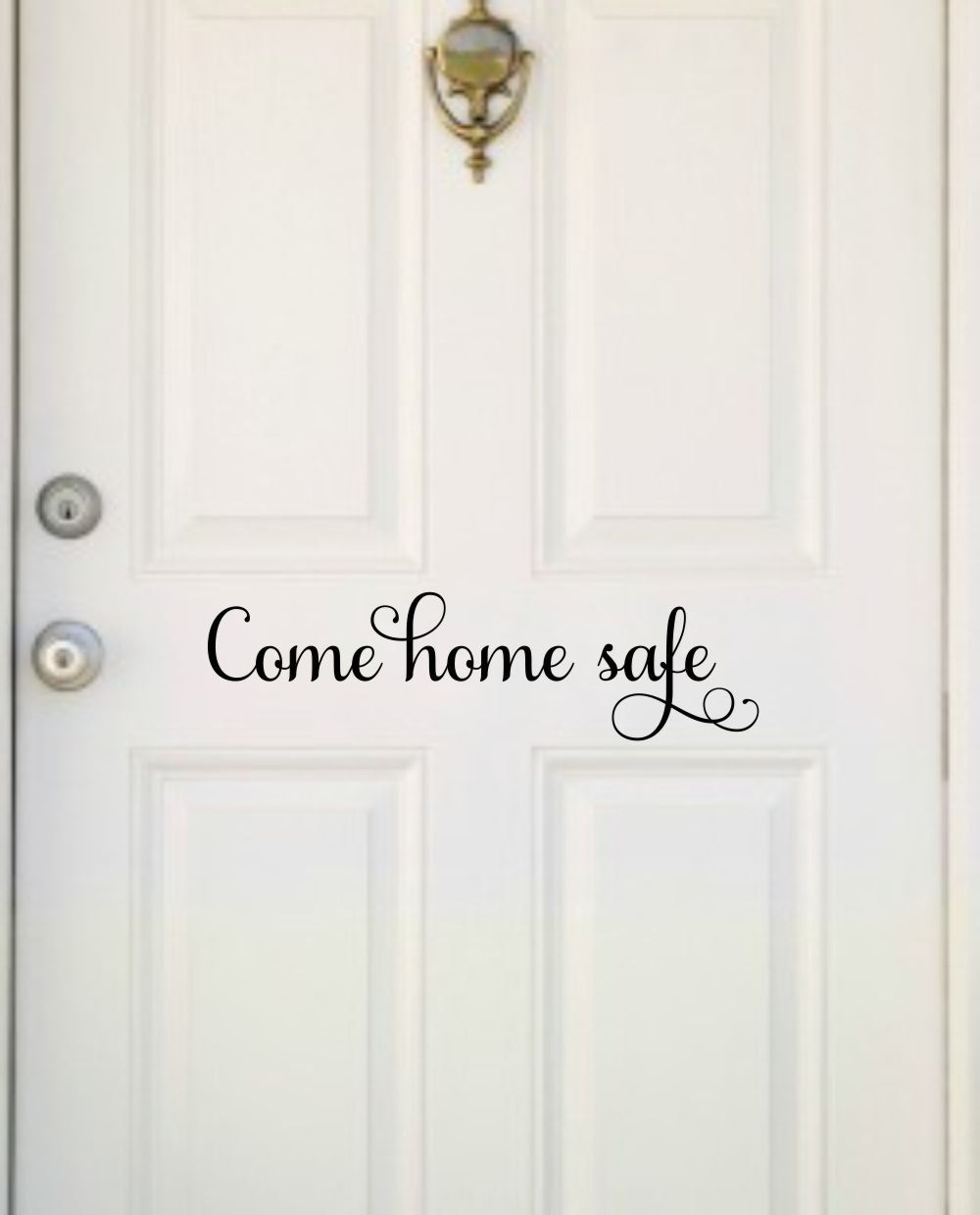 Come Home Safe Decal Police Decal Come Home Safe Vinyl Home Door Decal  Police Officer Decor Military Firefighter Door Decal Come Home Quote By ...