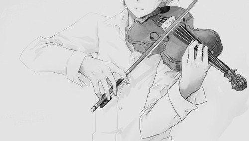 violin anime black and white - Google Search