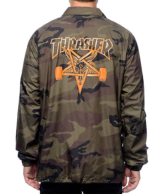 0f91742cd2906 Camouflage will never go out of style, grab the Skategoat camo coaches  jacket from Thrasher