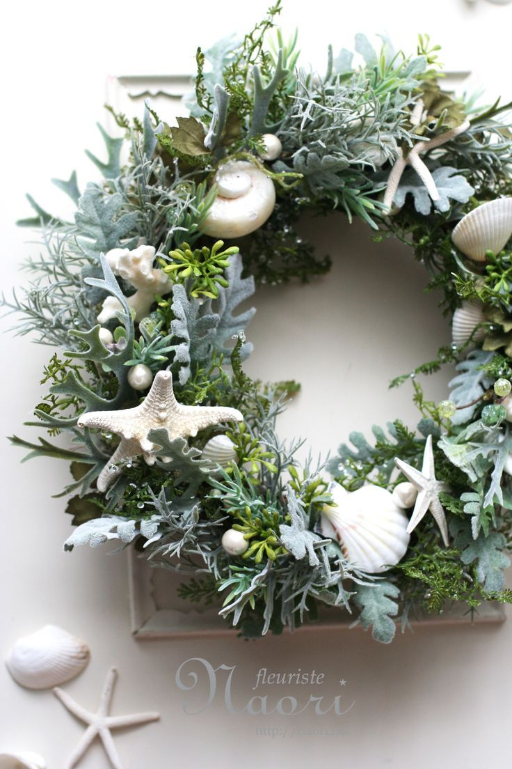 wreath of sea forest coastal decor - Coastal Themed Christmas Decorations