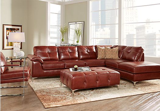 For A Preston Ridge Leather 4 Pc Sectional Living Room At Rooms To Go Find That Will Look Great In Your Home And Complement The