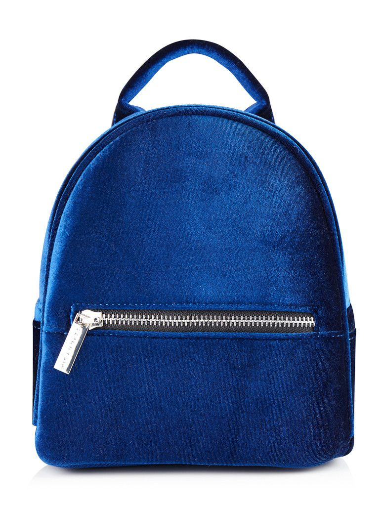 Skinnydip Navy Velvet Mini Backpack