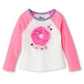e46b64792cf8b Toddler Girls' Donut Long Sleeve T-Shirt White - Circo™ | Target $6.00