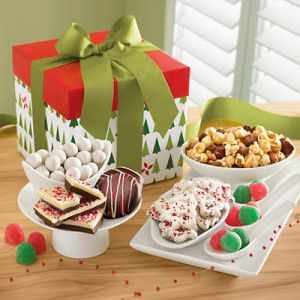Mistletoe christmas gift basket