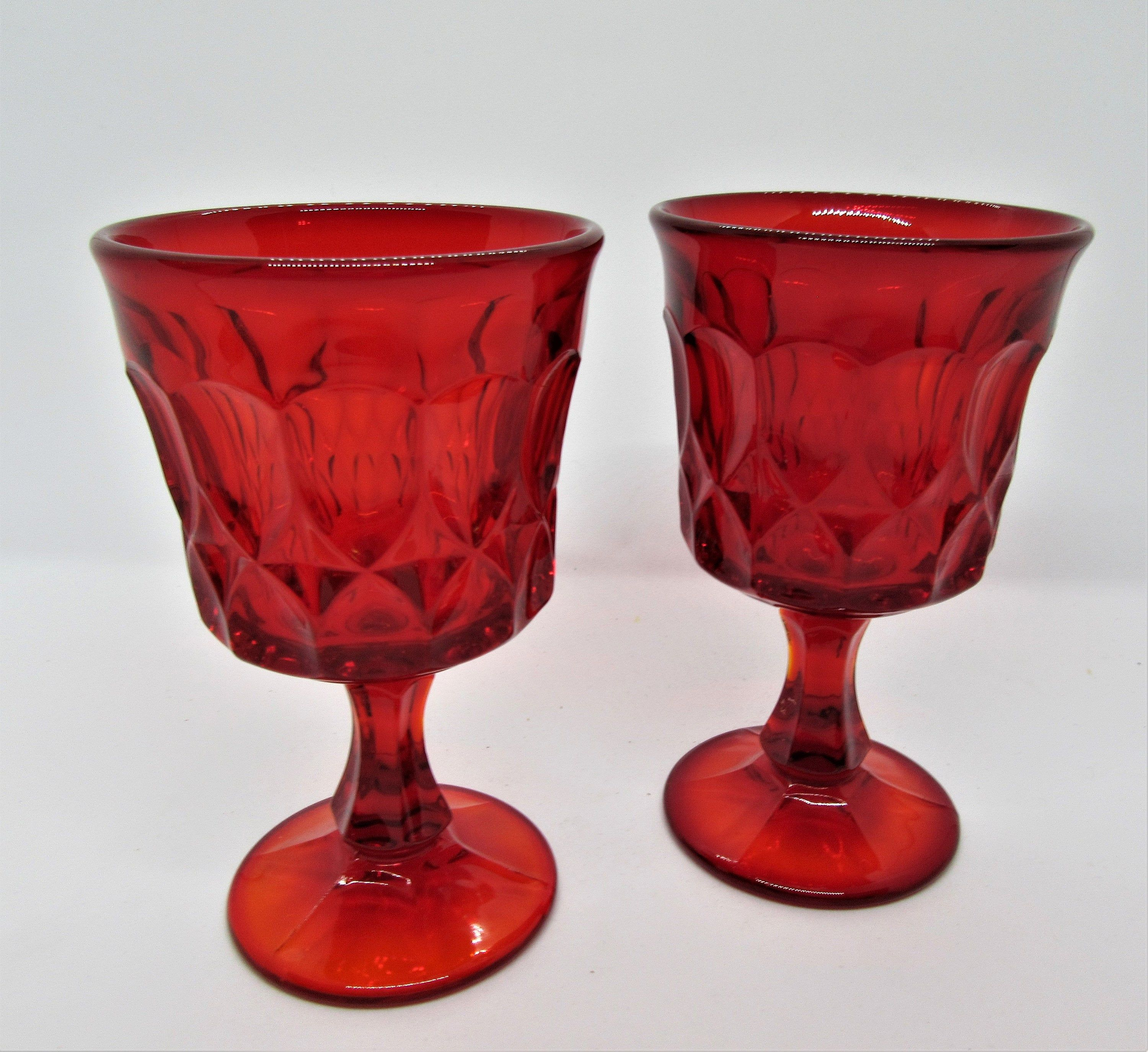 Red Wine Goblets Noritake Perspective Set Of 2 70 S Design Vintage Wine Glasses Wine Goblets Vintage Glassware