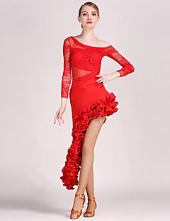 83688b4d075e High-quality+Lace+and+Tulle+with+Draped+Latin+Dance+Outfits+for+Women's+ Performance+(More+Colors)+–+EUR+€+77.77