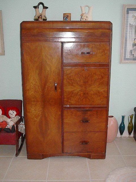 Collectibles general antiques waterfall dresser tall for Waterfall set design