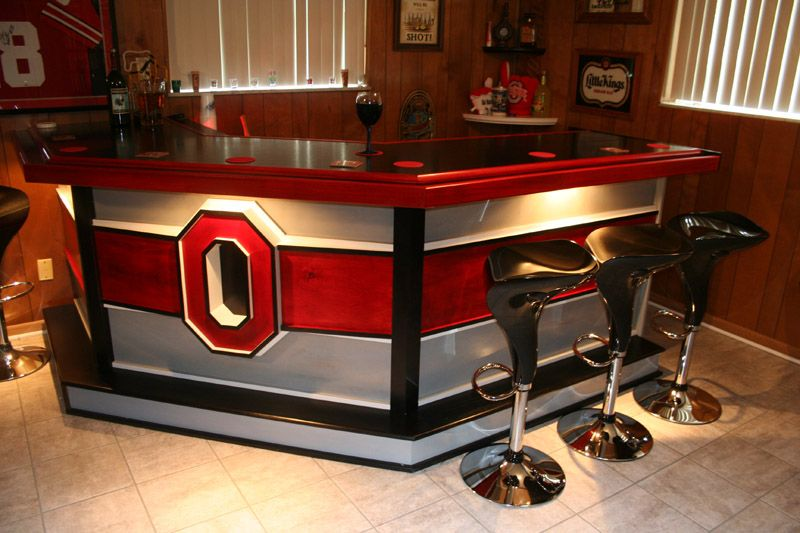 Download Red Color Bar With Black Chairs In Home Bar Ideas On A
