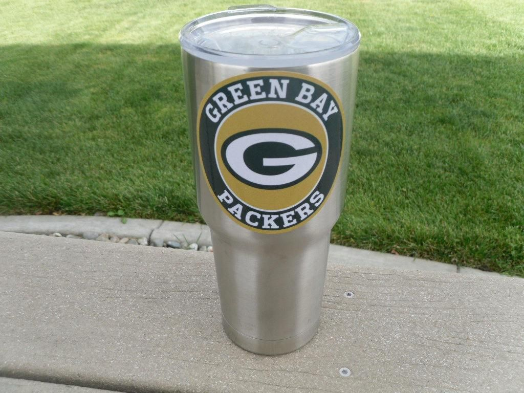 Packers Tumbler Vinyl Decals Fits 30oz 20oz Tumblers Buy 2 Get 1 Free In 2020 Vinyl Tumblers Vinyl Decals Sports Vinyl Decals