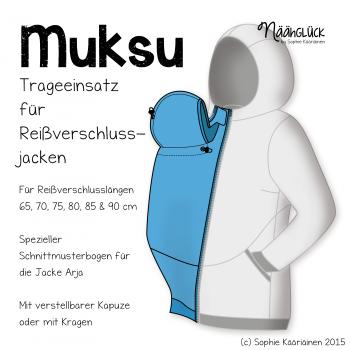 Näähglück Onlineshop - eBook Muksu - Trageeinsatz   Nähen ...