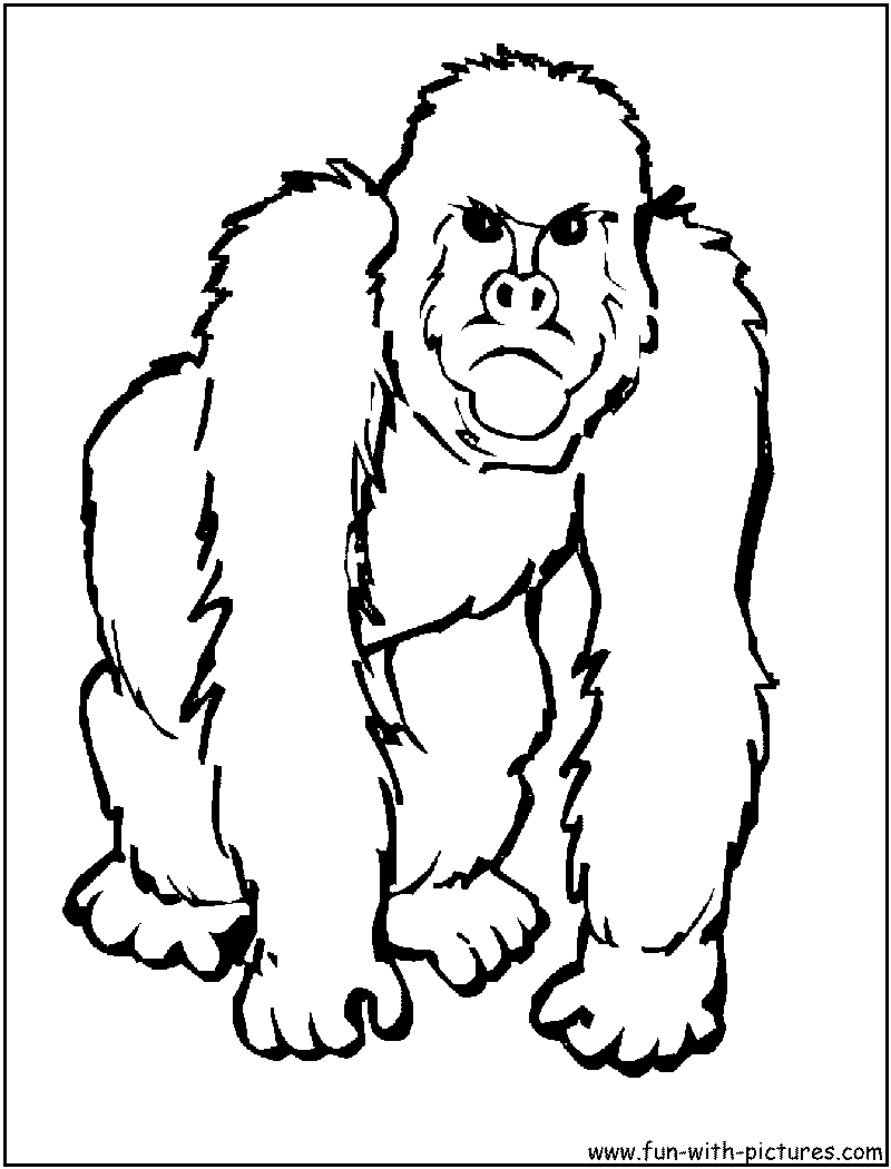 Gorilla Coloring Page Animal Coloring Pages Zoo Animal Coloring Pages Monkey Coloring Pages