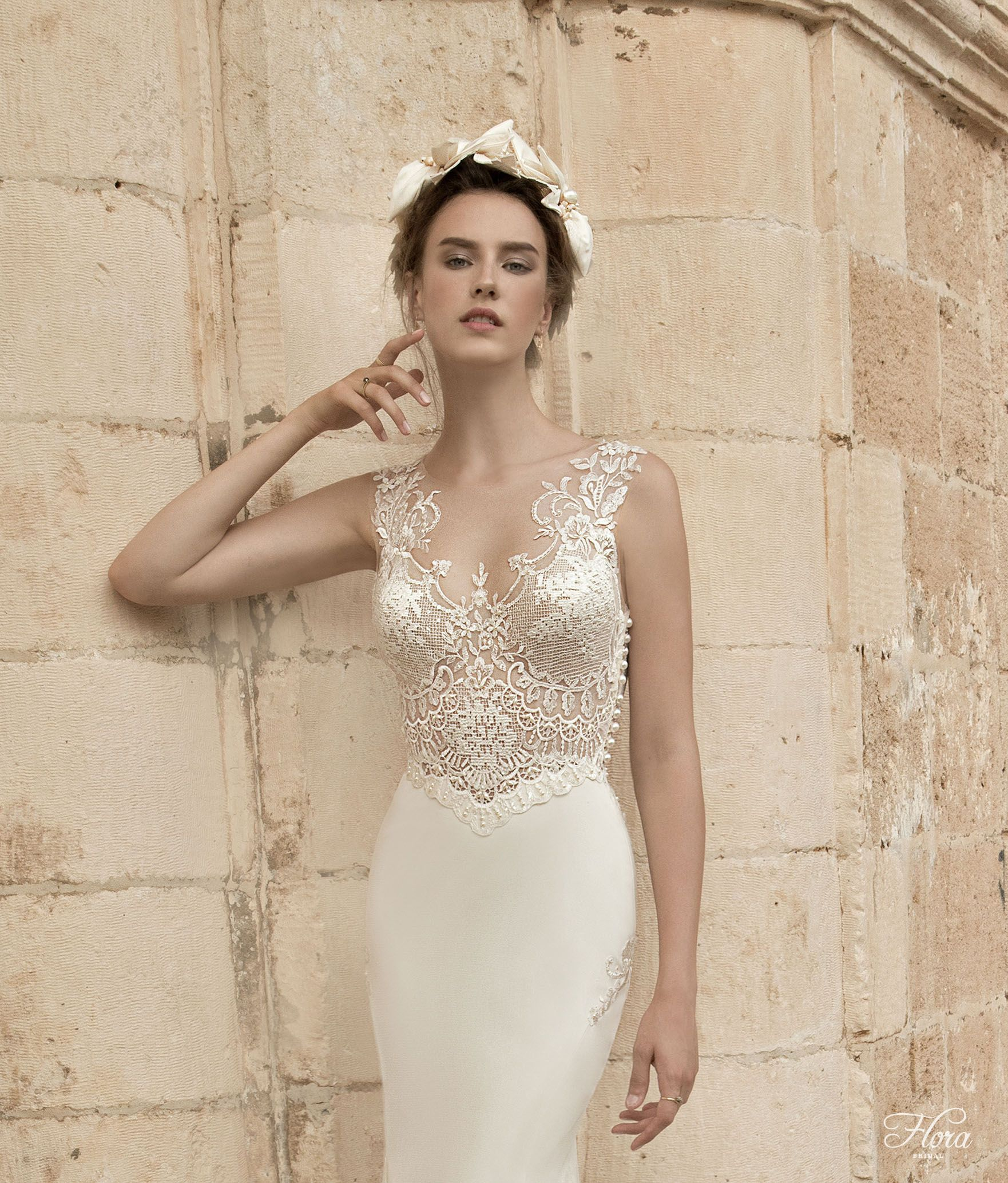 Flora 2015 wedding gown vik sheath silhouette wedding flora bridal stocked at churchgate porter ombrellifo Image collections